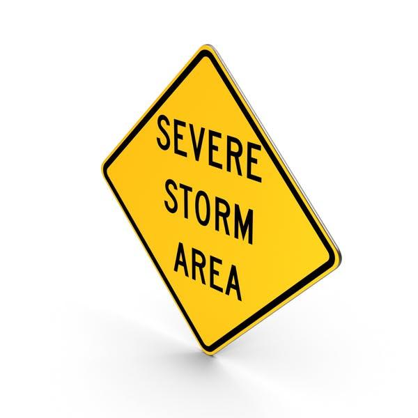 Thumbnail for Severe Storm Area Idaho Road Sign