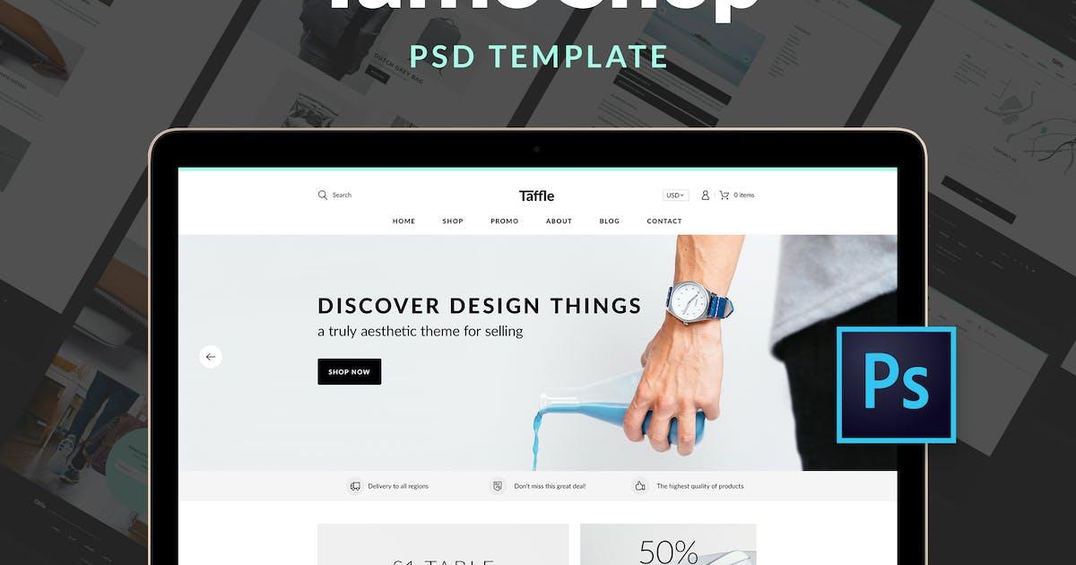 Taffle — Clean Shop PSD Template by Kumbkha