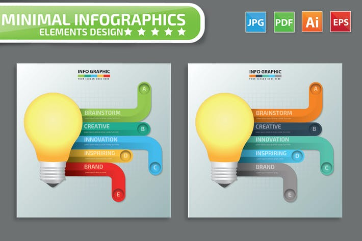 Thumbnail for Лампочка инфографика Дизайн