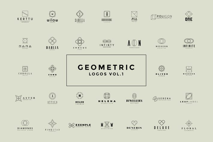 Thumbnail for 50 Geometric Logos Vol.1