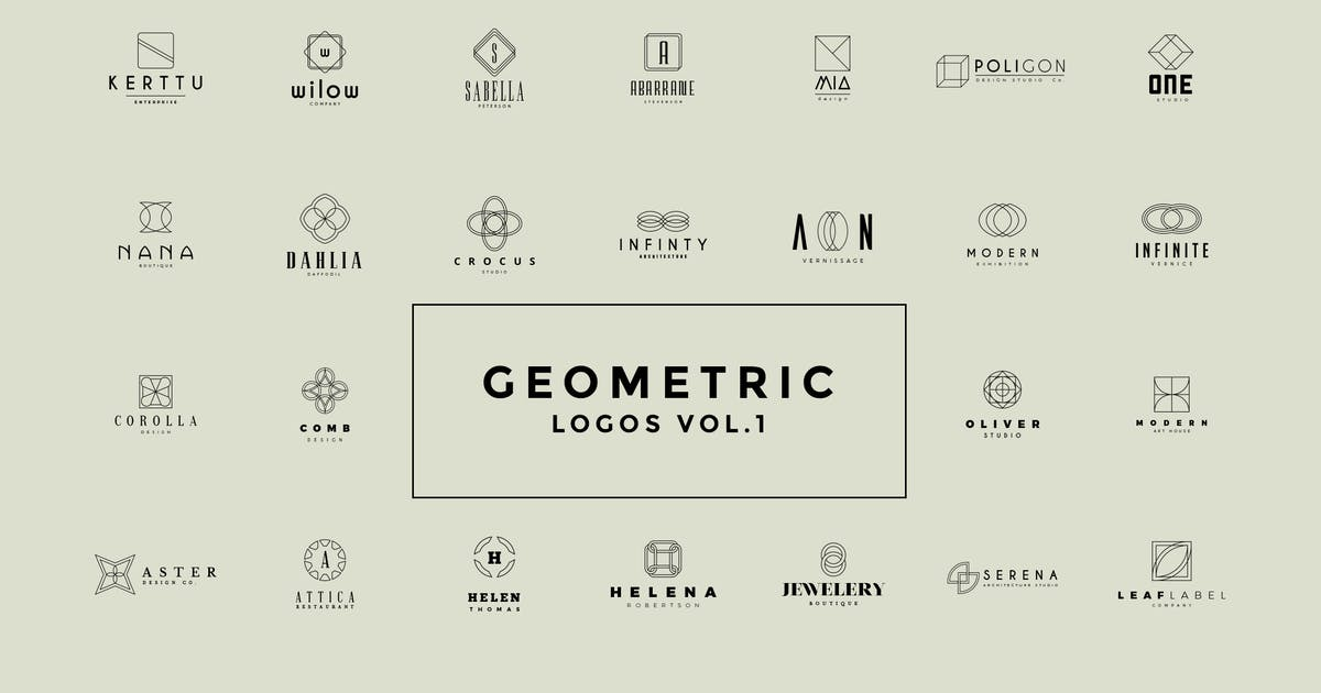 Download 50 Geometric Logos Vol.1 by Zeppelin_Graphics