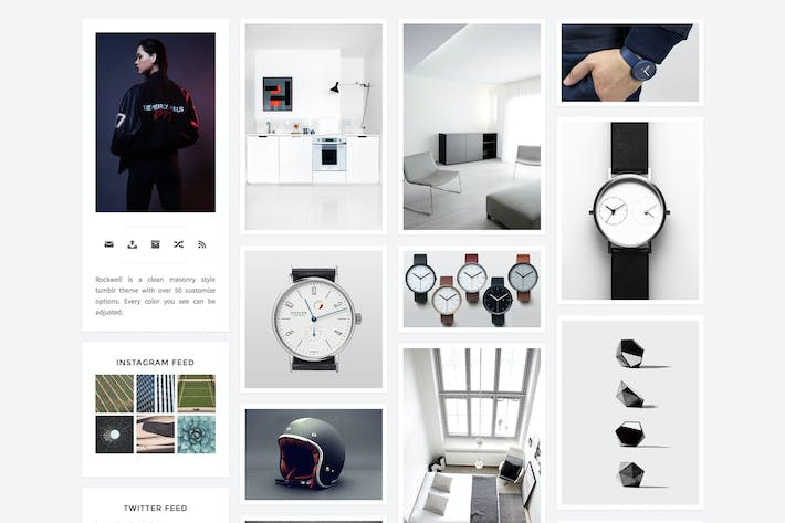 Thumbnail for Rockwell - A Responsive and Minimal Theme