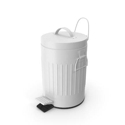 Pedal Trash Bin White