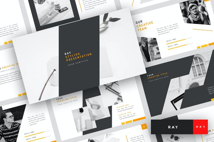 Cover Image For Ray - Stylish PowerPoint Template