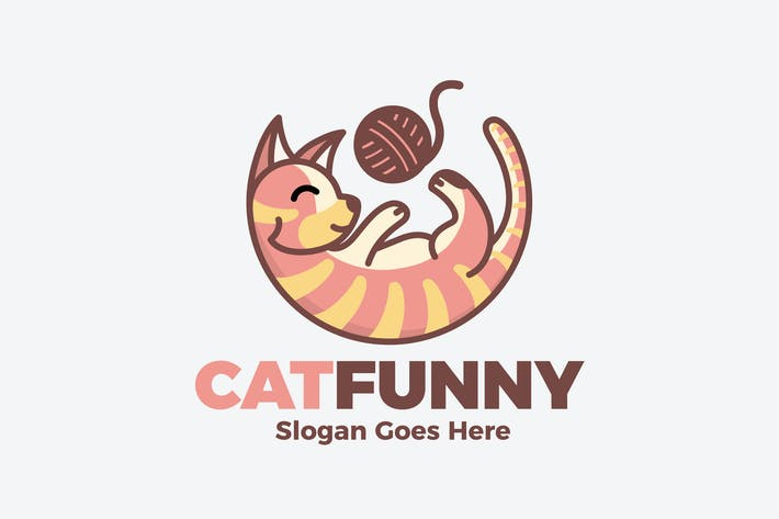 Thumbnail for Cat Funny Logo
