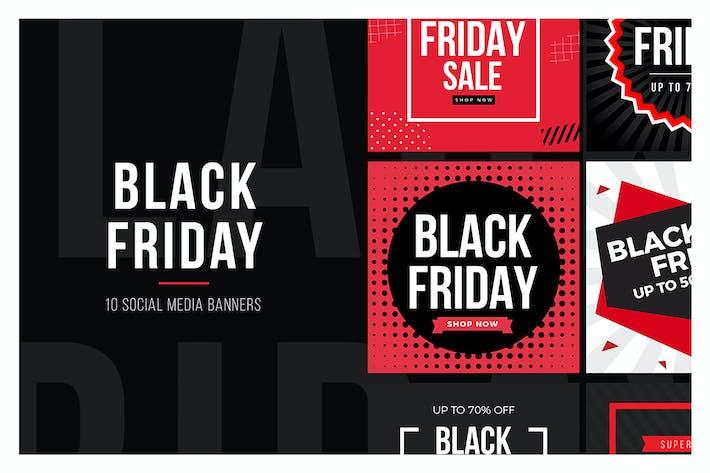Thumbnail for Black Friday Social Media Banners V3