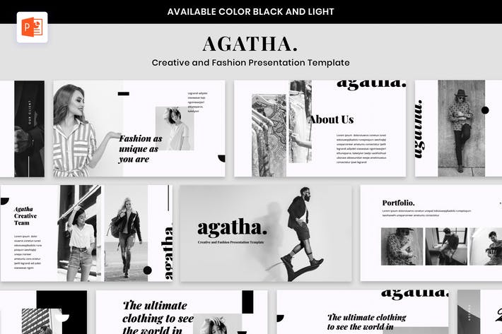 AGATHA - Creative Fashion Presentation Powerpoint