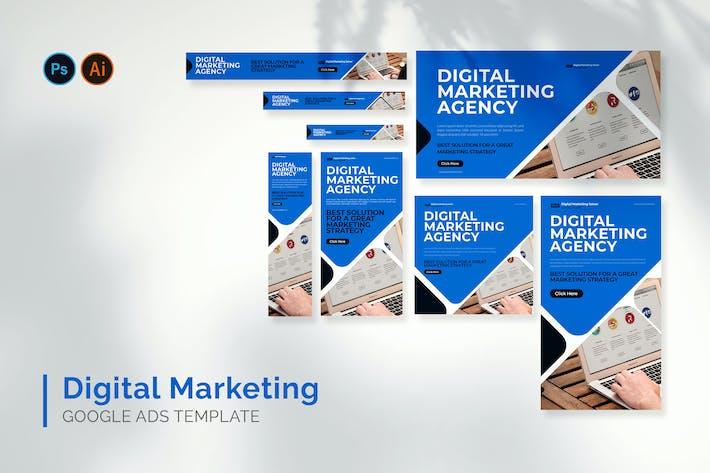 Marketing Digital - Google Ads Design Template