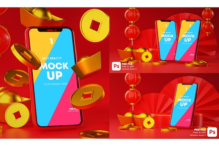 Thumbnail for Phone Mockup Chinese New Year Promotion.