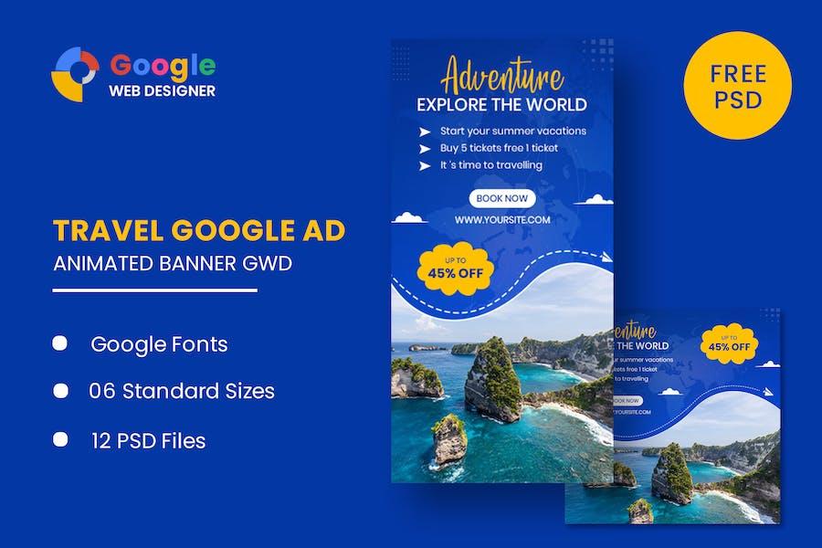 Travel Animated Banner Google Web Designer