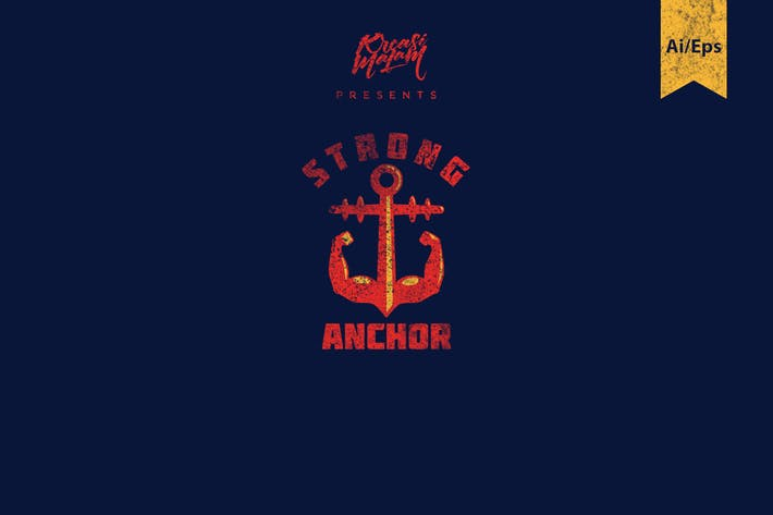 Thumbnail for Strong Anchor Logo Template