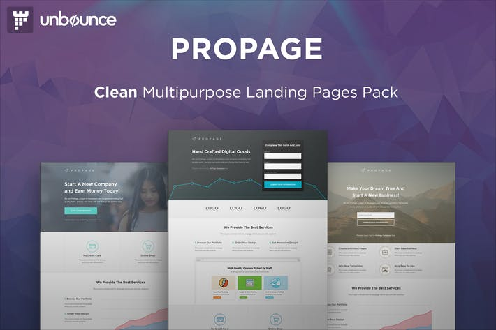 Thumbnail for ProPage - Multipurpose Unbounce Template