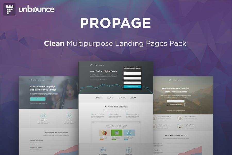 ProPage - Plantilla Multifunción Unbounce