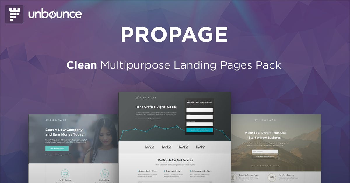 Download ProPage - Multipurpose Unbounce Template by PixFort