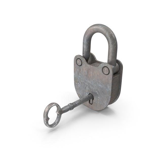 Rusted Padlock and Key