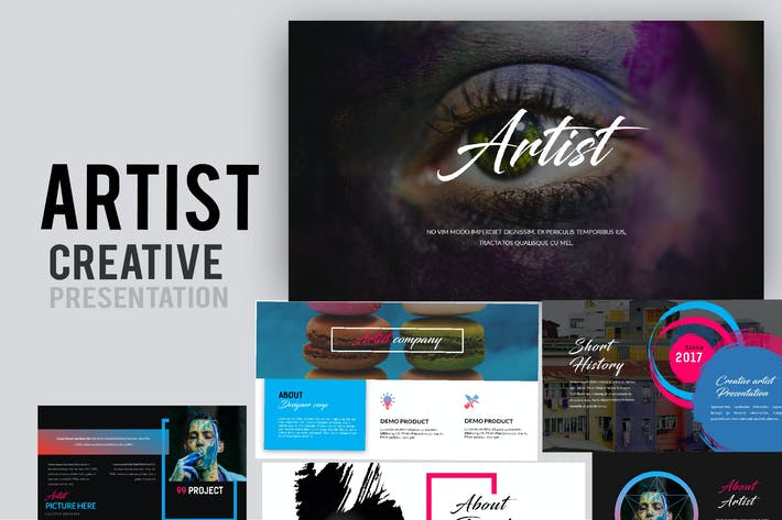 Thumbnail for Artist Creative Powerpoint