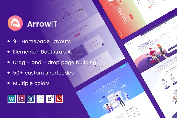 Thumbnail for ArrowIT - Technology, Digital WordPress Theme