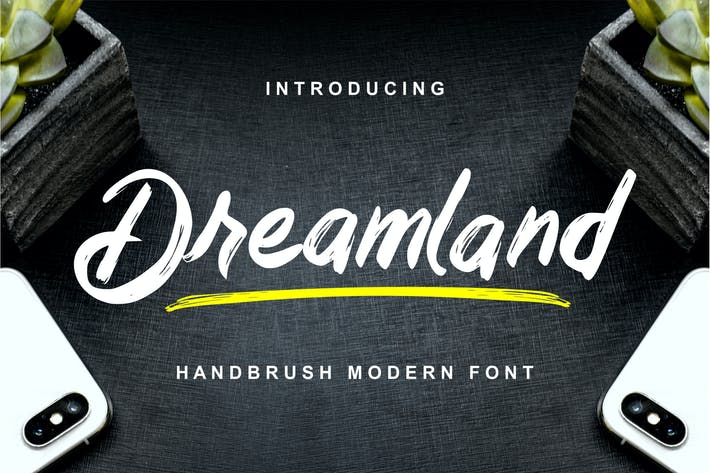 Thumbnail for Dreamland - Handbrush Modern Font