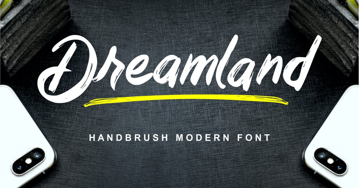 Download Dreamland - Handbrush Modern Font by IanMikraz