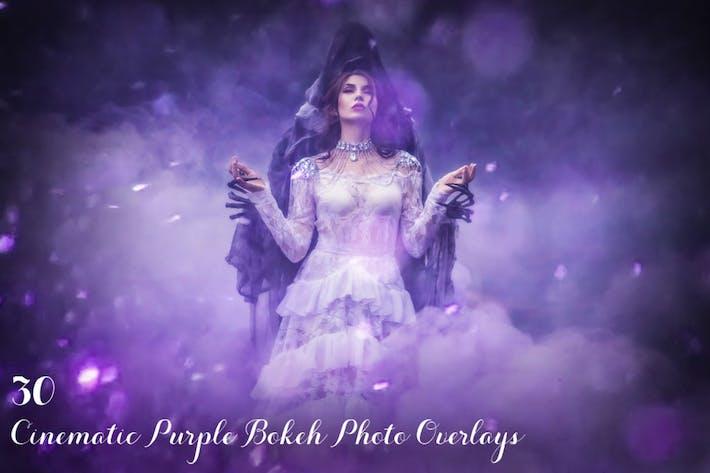 Thumbnail for 30 Cinematic Purple Bokeh Photo Overlays