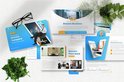 Bravers - Pitch Deck Powerpoint Template