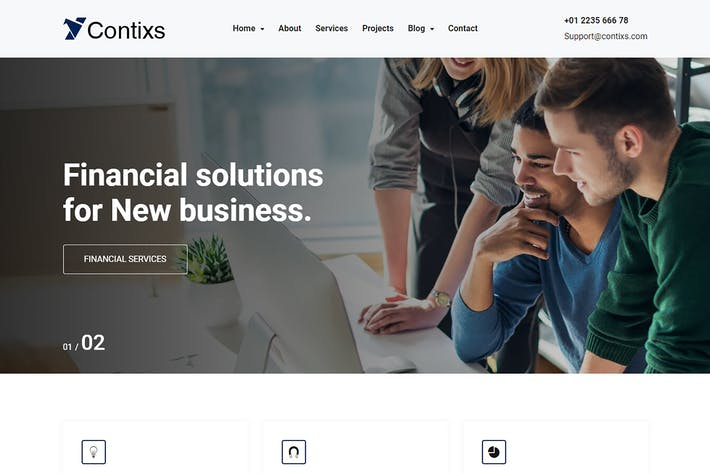 Thumbnail for Contixs - Finance and Business Consulting Bootstra