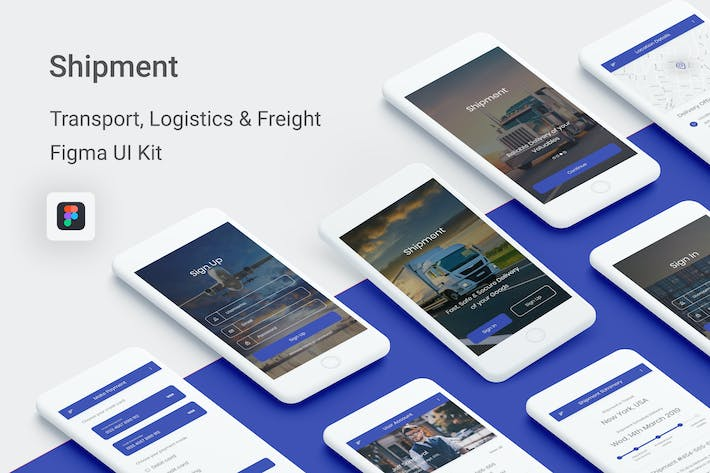 Thumbnail for Shipment -Transport, Logistic & Freight Figma App