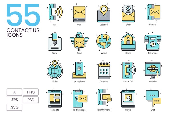 55 Messaging Icons & Communication Icons