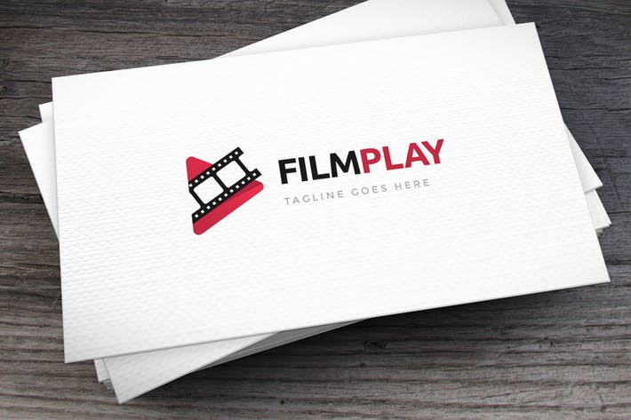 Thumbnail for Film Play Logo Template