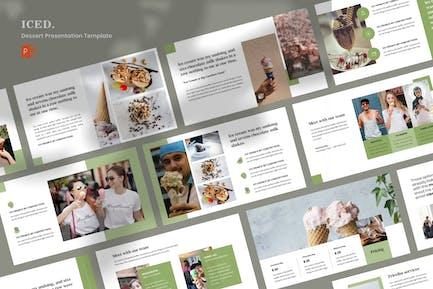 ICED - Dessert Powerpoint Presentation Template