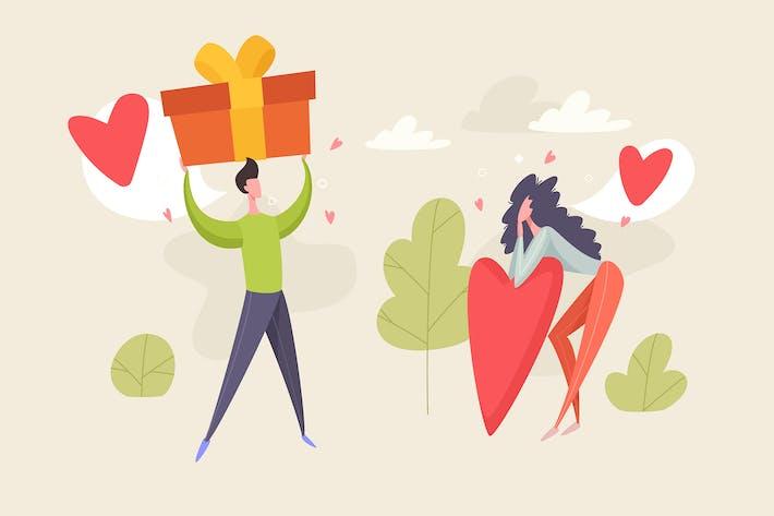 Thumbnail for Valentine's Day Illustration Vector