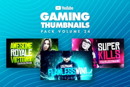 Gaming Youtube Thumbnails Pack 24