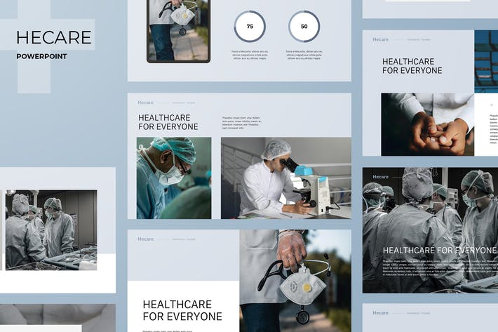 Cover Image For Hecare - Medical Theme Powerpoint