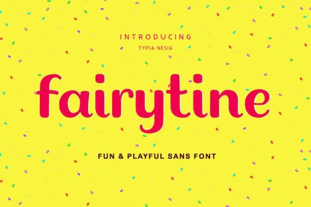 Fairytine Fun Groovy Font