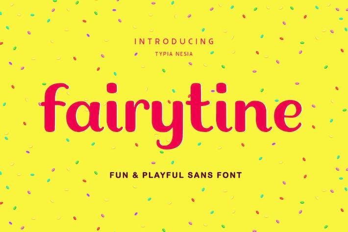 Thumbnail for Fairytine Fun Groovy Font