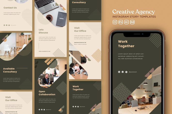 Thumbnail for Instagram Story Template Vol.35 Creative Agency