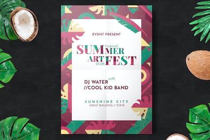 Minimal Summer Festival Flyer Vorlage