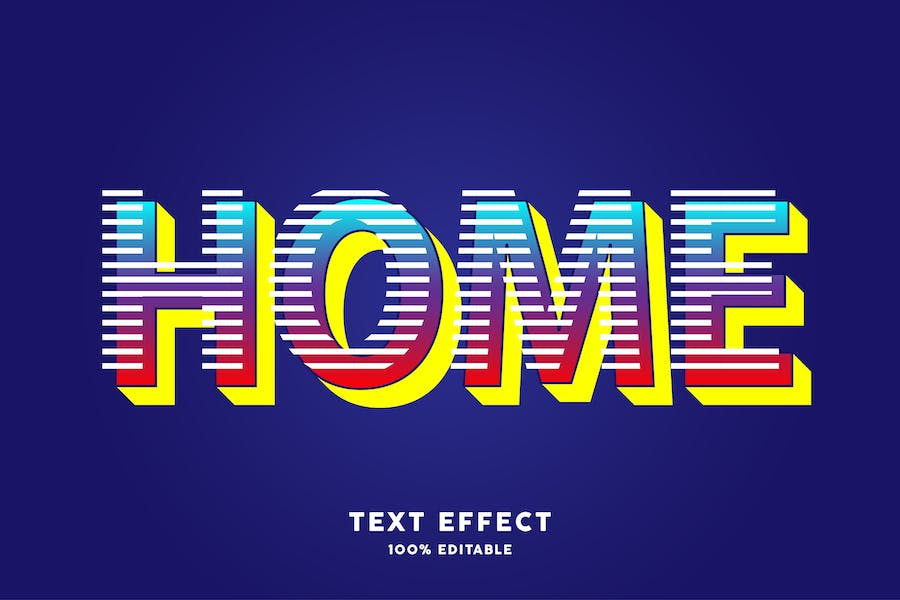Modern trendy text style effect
