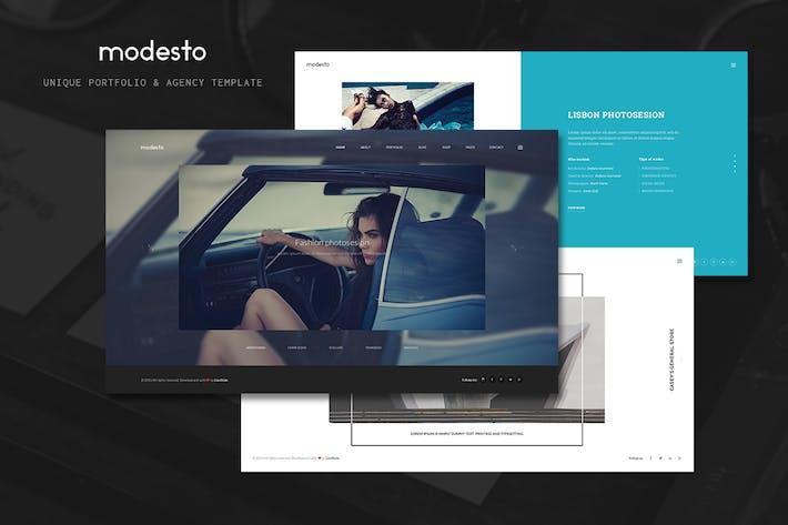 Thumbnail for Modesto - Unique Portfolio & Agency Template