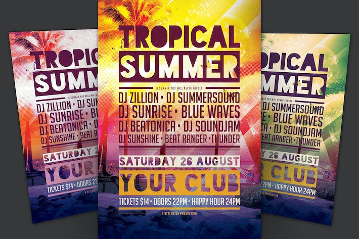 Thumbnail for Tropical Summer Flyer