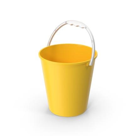 Cubo de plástico para niños