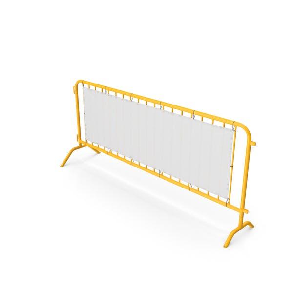 Barriere gelb perforiert