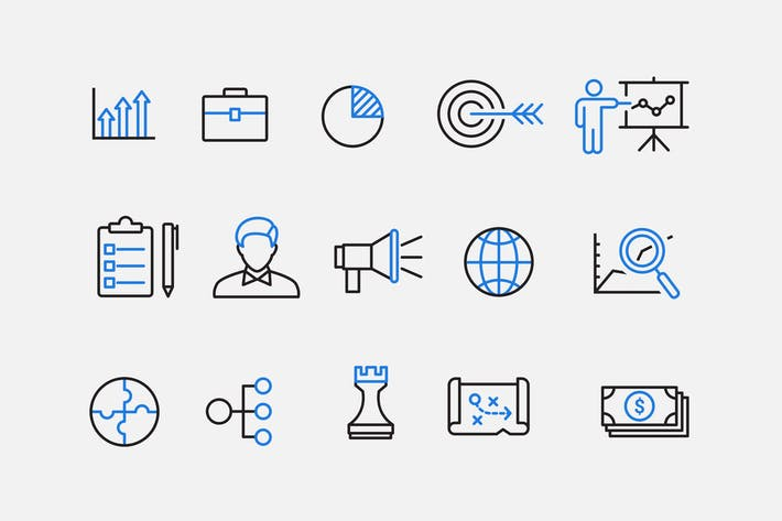 Thumbnail for 15 Business Strategy Icons