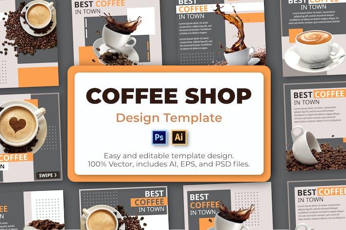 Kaffee Social-Media-Vorlage