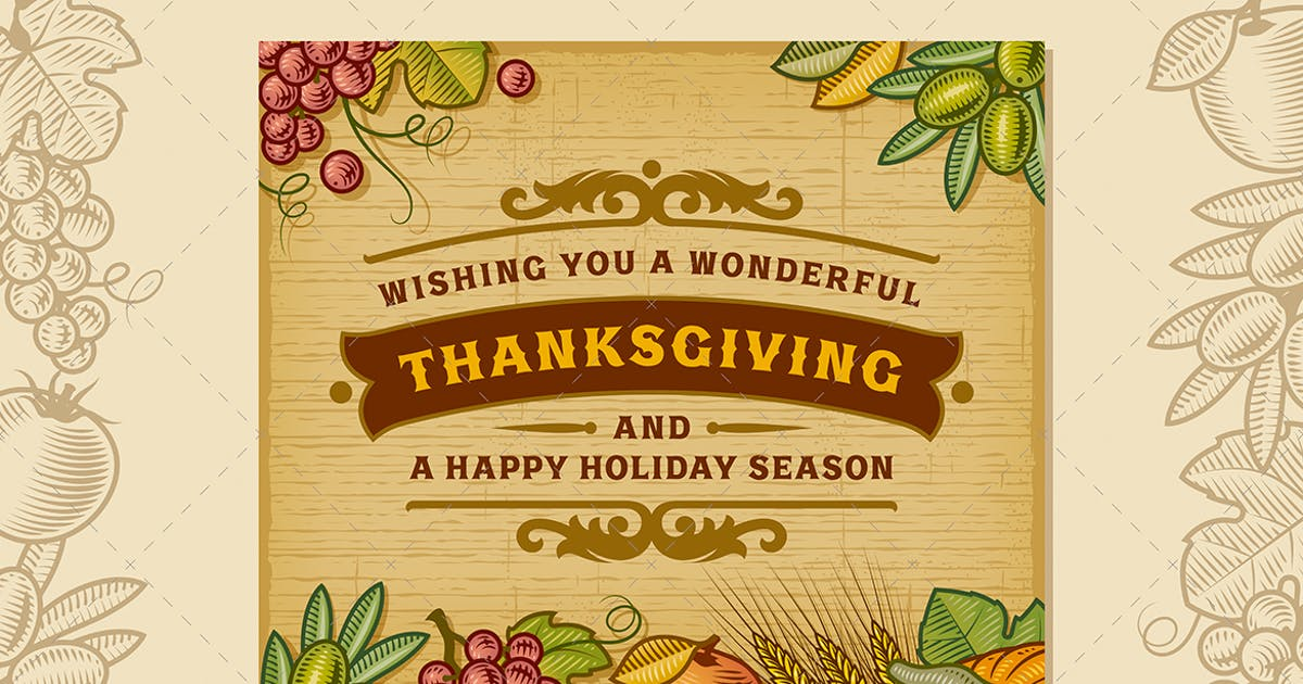 Download Thanksgiving Vintage Card by iatsun