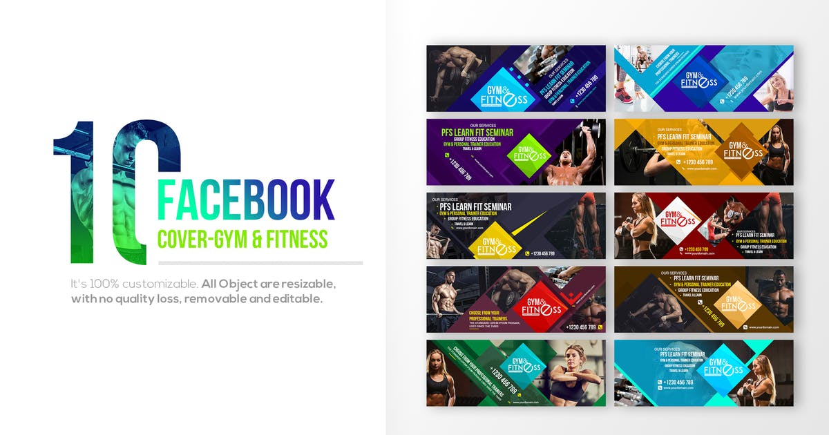 Download 10 Facebook Cover - Fitness & Gym by Unknow