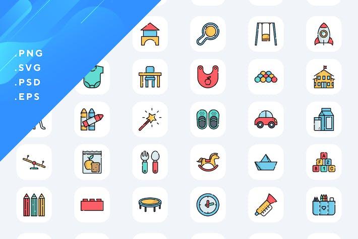 Thumbnail for 50 Kindergarten Icons