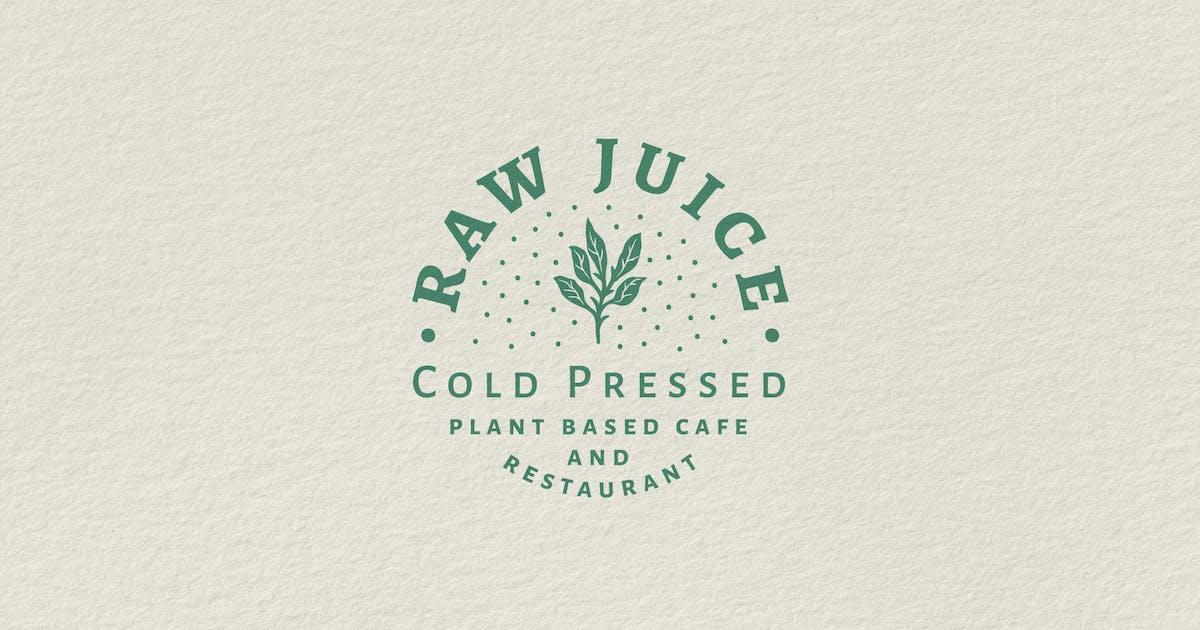 Download Vintage Badge Logo - Raw Juice Cold Pressed by tacikworks