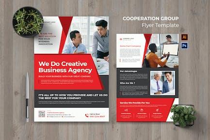Flyer für die Kooperationsgruppe
