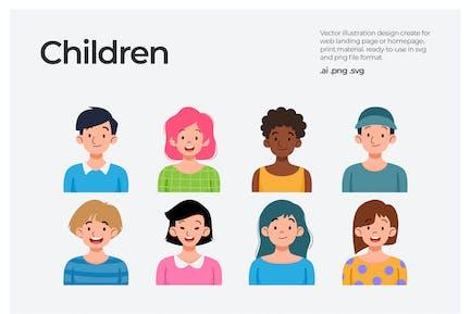 Niños - Ilustración